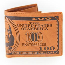 Canada Export mode hommes dollar bourse portefeuille mélanger designer en cuir créativité créativité détenteurs de la carte portefeuilles couleur brun foncé et clair livraison gratuite cheap dark brown purses Offre