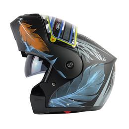Wholesale Jiekai Full Face Flip Helmet - wholesale 2016 new YEMA full face helmet capacete casco Flip up motorcycle Helmet dual lens sun visor helmets better than JIEKAI 105