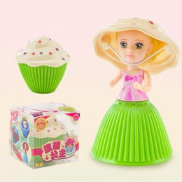 Wholesale Cupcake Toys - Mini Cupcake Scented Princess Doll Surprise Reversible Cake 12 different styels dolls with 6 Flavors Magic Toys for Girls