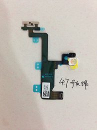 Wholesale Iphone Botton - High Quality Flex Cable For iphone 6 6G Power On Off botton Flex Cable Replacement Part For iphone 6 flex cable Free Shipping