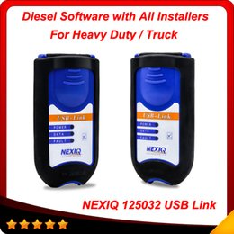 Wholesale Truck Diagnostic Software Interface - 2016 New Arrival NEXIQ 125032 USB Link + Software Diesel Truck Diagnose Interface and Software with All Installers DHL Free Shipping