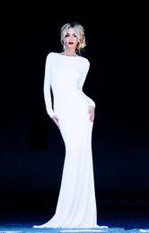 Wholesale Cheap Jenny Packham Wedding Dresses - 2016 Sexy White Scoop Neckline Long Sleeve Backless Evening Dresses Cheap Wedding and Prom Dress jenny packham Dress