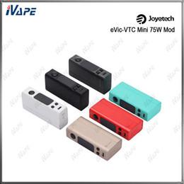 Wholesale joyetech evic e - 100% Original Joyetech eVic-VTC Mini Mod Joye eVic VT Mini 75W VW Temperature Control TC Box Mod E Cigarette Mod With OLED Screen
