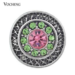 Boutons de couleur multicolores en Ligne-Vocheng NOOSA Mode Imitation Platine Plaqué Snap Charms Multicolore Boutons En Cristal Interchangeable Bijoux Accessoires Femmes (Vn-340)