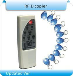 controle de acesso da porta do cartão inteligente Desconto Frete Grátis RFID Handheld 125 KHz / 250 kHZ / 375 KHZ / 500 KHZ ID Card Copiadora / Writer Duplicator + 10 pcs gravável keytags