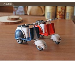 Wholesale Bicycle Motors - Metal Motorcycle Model, Handmade Classic Style, Little Wort of Art, Pedal motor Toy, Same with the Rome Holiday', Decoration and Gift