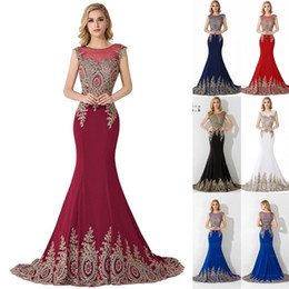 Wholesale Elegant Satin - Sexy Sheer Lace Mermaid Long 2017 Prom Dresses under 60 Elegant Royal Blue Evening Party Dresses Vestido de Festa Longo CPS234