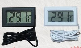 Argentina 300 unids Digital LCD Termómetro de Pantalla Nevera Nevera Congelador de Acuario FISH TANQUE Temperatura -50 ~ 110C GT Negro blanco Color cheap digital lcd thermometer for aquarium Suministro