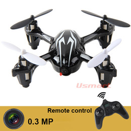 Wholesale Hubsan Helicopter - Wholesale-Wholesale 0.3MP Camera Drone X6 Quadcopter RC VS Hubsan X4 H107C 4CH 2.4G Remote Control Toys RC Helicopter with Camera &