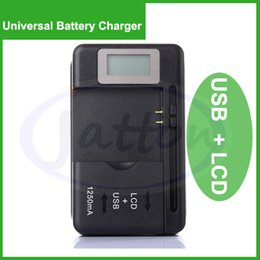 Wholesale Lcd Galaxy S3 - Universal Battery charger with LCD Screen USB Li-ion Home Wall Dock Travel Charger Samsung Galaxy S3 S4 S5 Note 3 4 Nokia, Huawei Cellphone