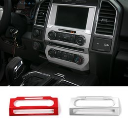 Wholesale Central Control - Car Interior Accessories ABS Central Control Volume Adjustment Panel Decoration Covers Fit For Ford F150 2015-2017