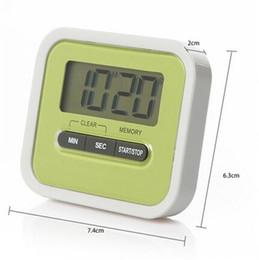 Wholesale mini reminder alarm - Newly Kitchen Timer Digital Kitchen Helper Mini Digital LCD Kitchen Count Down Clip Timer Alarm Colorful Meow