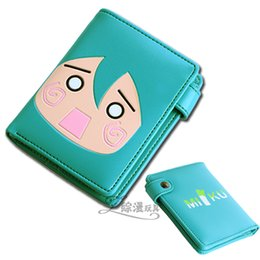 Wholesale Hatsune Miku Purse - Wholesale-Free shipping!Anime Hatsune Miku Fashion Cute Girl's PU Hasp Wallet Cosplay Children Birthday Christmas gift