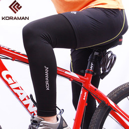 Wholesale Uv Arm Protectors - Wholesale- KORAMAN new Summer leg warmers cycling Fitness Leggings knee Protector Outdoor Sports Cycling mounting UV Protection 3102