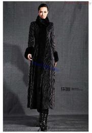 Wholesale Ladies Fur Coat Fox Collar - 2015 new faux Mink Fur coat fur collar maxi trench overcoat autumn ladies gray casacos femininos elegant fuax fur coat