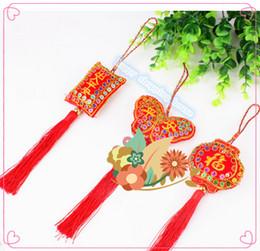 Wholesale Chinese Dragon Pendant Wholesale - 10pcs The Dragon Boat Festival Chinese knot sachets bag pendant ornaments wholesale sequins zongzi sachet ornaments