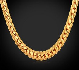 Wholesale Thick Figaro Chain - New 18 k gold plated necklace figaro men 6 mm thick necklace and pendant necklace jewelry ensure long color