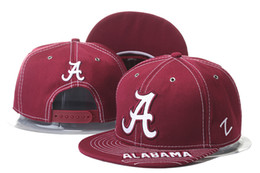 Wholesale Wholesale Hats Caps Embroidered - New Caps Alabama Snapback Caps College Hat Cheap Hats Mix Match Order All Caps in stock Top Quality Hat