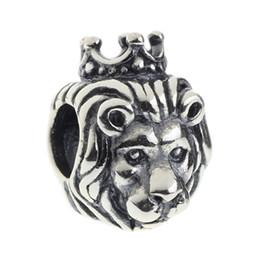 Argentina Beads Hunter Jewelry Authentic 925 Sterling Silver King Lion Charm Joya de moda Gran Agujero para 3mm Pulsera Europea Cadena de serpiente Suministro