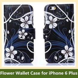 "Wholesale Iphone Usa Flag Case - Wholesale Hot UK USA Flag Butterfly Flower Print Folding Wallet Flip Cover Case for Apple iPhone 6 Plus 5.5"" Free Shipping"