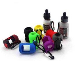 Funda protectora de silicona de botellas de Eliquid coloridas Funda protectora de silicona Fit E Liquid 10ML 15ML 30ML Botella E Cigarrillo Funda protectora de goma desde fabricantes