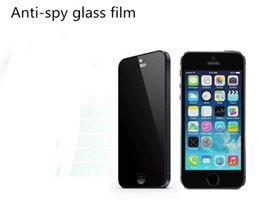 Wholesale Spy Mirrors - Anti-spy Privacy New 9H 2.5 curved Tempered Glass Screen Protector Film For iphone4 5 6 With Retail Package
