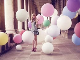 Wholesale 36 Giant Balloons - 36 inch Helium Inflable giant latex balloon Multicolor party Helium Balloon for Wedding Birthday party decorations supplies