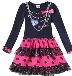 Wholesale Anna Nova - 2015 new fashion baby girls dress nova brand anna elsa dress long sleeve knee length dress for casual dress kids chothes