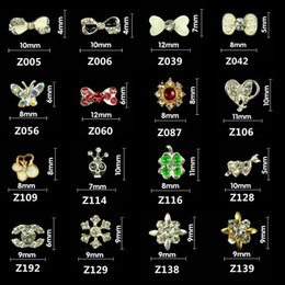 Wholesale Variety Nail Stickers - Nail alloy metal jewelry accessories diamond bow nail stickers nail DIY make a variety of optional points on your nails beauty