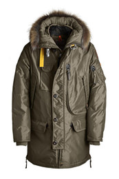 Wholesale Kodiak Jacket - DHL Free Shipping 2017 New Arrival men's Kodiak down parka Black Navy Gray Jacket Winter Coat Parka Fur sale With Free Shipping online