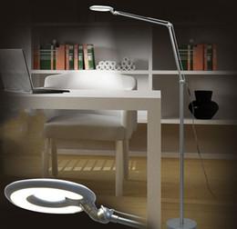 2019 lâmpadas de chão para piano Luminária de piso LED sala de estar quarto estudo luzes de piano Lâmpadas de assoalho simples moderno criativo Branco prateado lâmpadas de chão para piano barato
