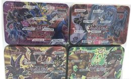 Wholesale Pc Kid Games - 2017 New arrival Copy Version yugioh card 41 pcs lot Iron Box Package English version play game kid toys for children gold yugioh cards.