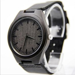 Wholesale Most Popular Business - New Leisure business selling the most popular style factory sell like hot cakes Pure natural bamboo watches black Dermal needle buckle stra