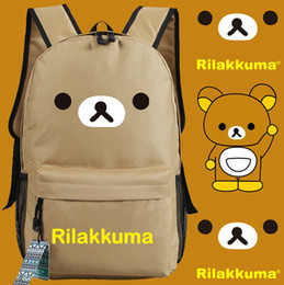 Wholesale Anime Appliques - Rilakkuma bear backpack Kiiroitori chicken day pack Fun cartoon school bag Anime packsack Quality rucksack Sport schoolbag Outdoor daypack