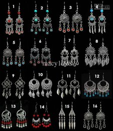 Wholesale Earrings Mix Tibetan Silver - earrings 16pcs lot Tibetan silver earring fashion jewelry top quality mix order