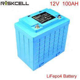 Wholesale 12v Lifepo4 - Free Customs taxes and shipping LIFEPO4 battery Lithium battery 12V 100Ah 12V 100Ah LIFEPO4 battery pack For UPS,led lights