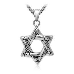Wholesale Stainless Steel Hexagon - Men's vintage hollow hexagon shape stainless steel pendants fashion personality titanium steel pendant necklaces jewelry accessories