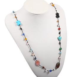Wholesale Zircon Pendant Necklace - TL Stone Chain Bear Brand Jewelry Set Stainless Steel Necklace Set With Black Zircon Pendant Necklace Set For Women