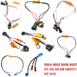 Wholesale Led Canbus Load Resistor - 50W 6Ohm Headlight Load Resistor Fog Lamps Decoder LED Canbus Connection Resistance Fog Lights DXY88