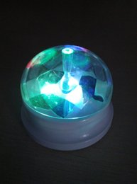 Wholesale Cap Solar Energy - Solar Energy Product Rotating Display Stand with Transparent Spherical Cap LED light best promotion Solar Gift 100pcs lot LH-002b