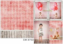 Wholesale digital background floors - 5X7ft Fantasy Pinky Wall Within Floor Photography Background For Photos Muslin Computer Printed Digital Cloth Vinyl Backdrop