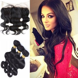 Wholesale Extensions For Sale - Cheap Peruvian hair 3bundles with 13x4 closure ear to ear 130% density swiss lace frontal hair extensions for sale G-EASY