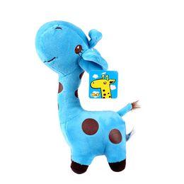 Wholesale Wholesale Giraffe Teddy - 18cm giraffe doll plush toys crystal ultra soft short plush color dot toy deer free shipping