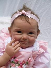 Wholesale Funny Baby - Wholesale- cute princess kawaii Funny expression silicone reborn dolls 22' lifelike vinyl doll 55CM real baby dolls for girls free shipping