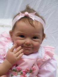 2019 boneca de borracha rosa Atacado-cute princesa kawaii Engraçado expressão silicone s 22 'boneca de vinil realista 55 CM real baby dolls para meninas frete grátis