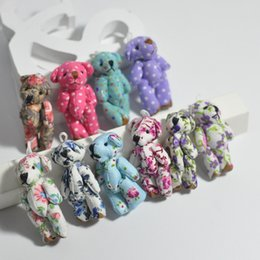 Bluk 4.5 cm Bez Ortak Küçük Teddy Bear Kolye minyatür ayı anahtarlık / Telefon / Çanta / Bouqeut mücevher aksesuar hediye Yumuşak Bebekler nereden