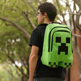 """Wholesale Creeper Bags - Minecraft Bag Creeper Backpack Creeper school bag 2pcs In Stock """"Great Quality""""Coolie Strange schoolbag"""