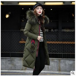 Wholesale Women Thicken Fleece Warm Coat - Women Down Coats 2017 Fashion Winter Female High Quality Long Warm Coat Female Thicken Solid Parka Hooded Jacket Plus Size Solid color