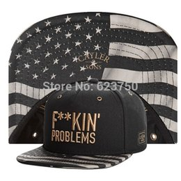 Problemas negros online-Al por mayor-2015 Hot New Cayler Sons F ** KIN FUCKIN PROBLEMAS oro carta estrella Snapback sombreros negro BREAD BREAD PRAY gorras de béisbol de diseño