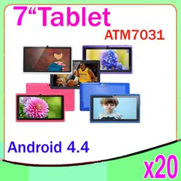 Wholesale 17 Screen - Quad Core Android 4.4 Bluetooth Flash Light Tablet PC 7 inch Capacitive Screen ATM-7031 20pcs ZY-MID-17